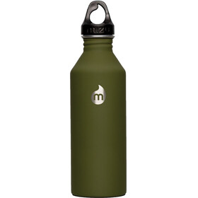 MIZU M8 Bidon with Black Loop Cap 800ml oliwkowy